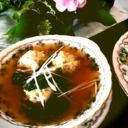 ★鶏肉だんごとほうれん草スープ★