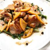 鶏肉のロースト オレンジキャラメルソース