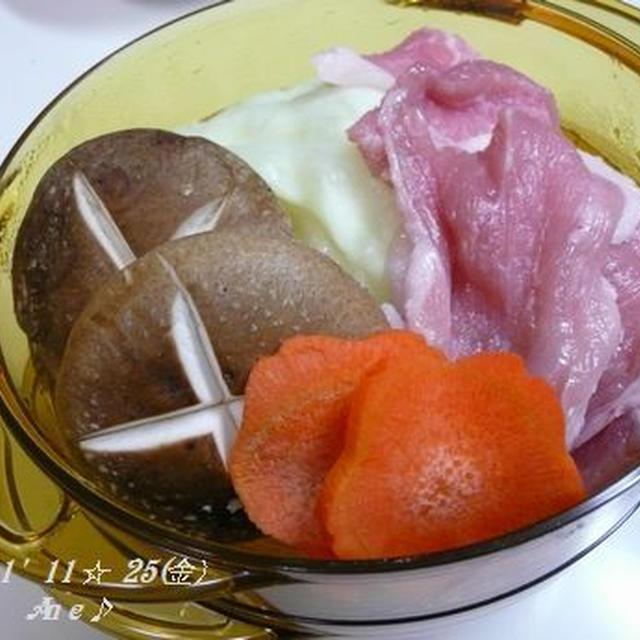 電子レンジで楽チン♡蒸し野菜&お肉♪