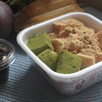 わらび餅&アーモンドミルクブランマンジェ&ココナッツミルクプリン♪