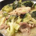 豚肉とブロッコリーのマスタード炒め&いか明太子茶漬け by やすへちゃんさん