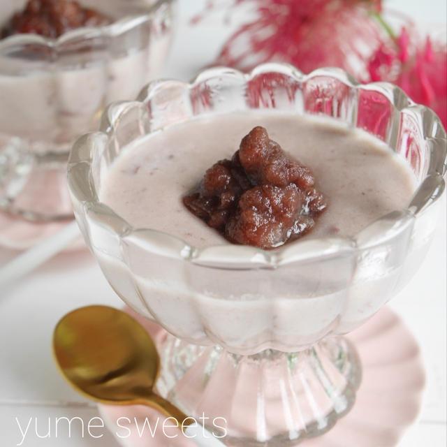 材料3つ!ひんやりとろーりココナッツあずきの米粉ブラマンジェ