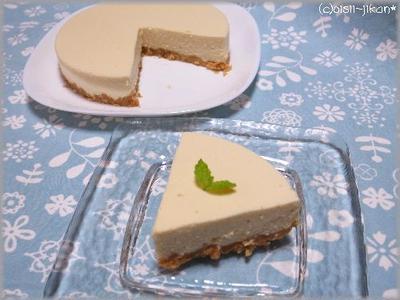 カルピスを使った、レアチーズケーキ( ´∀`)☆