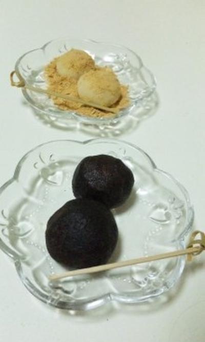 土用餅に、普段のおやつに、電子レンジで簡単もちもちあんころ餅のレシピ☆