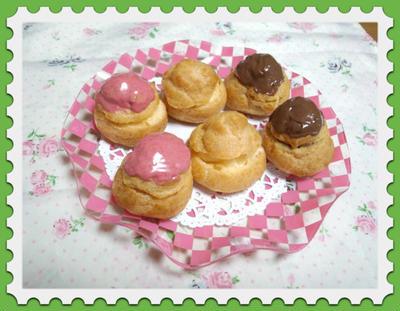 *苺&チョコ♪プチシュークリーム~米粉カスタード*