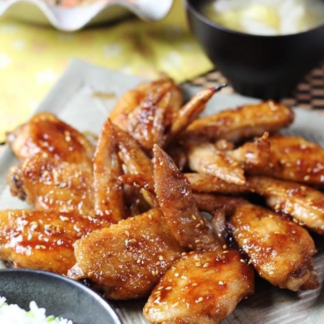 鶏の手羽先揚げ甘辛味