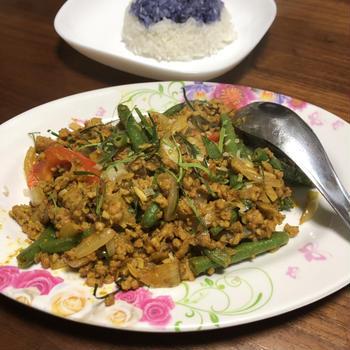 青いご飯&青紫のご飯レシピ!バターフライピーライス・アンチャンライス