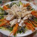 ギリシャオイル☆鶏蒸しさっぱりサラダ by とまとママさん