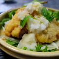鶏天おろしに山菜ご飯