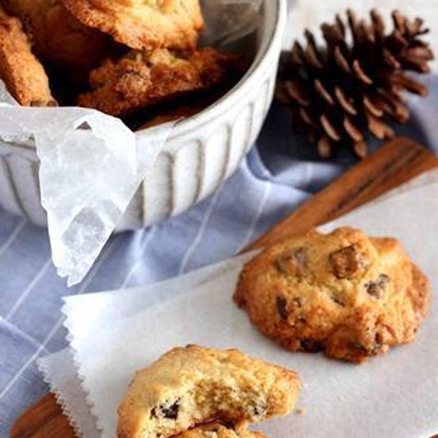 【レシピ】ココナッツとチョコのドロップクッキー