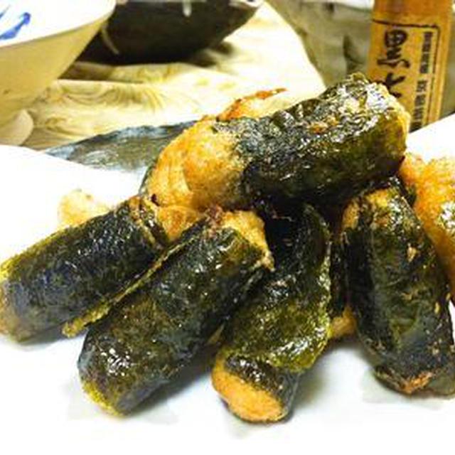 自然薯の海苔巻き揚げ