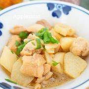 鶏肉と長芋と蓮根の炒り鶏風