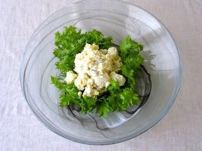 わさび菜のポテトサラダ