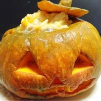 ハロウィンに☆ジャック オ ランタンのかぼちゃグラタン と 花子とアンの家