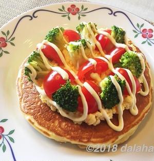 【レシピ】 朝食にはサラダパンケーキ もちもち食感でおなかも満足のホットケーキ!