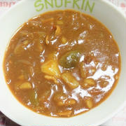<カレー風味の強い夏野菜カレー>スパイス大使 <焼き茄子>レシピ2品
