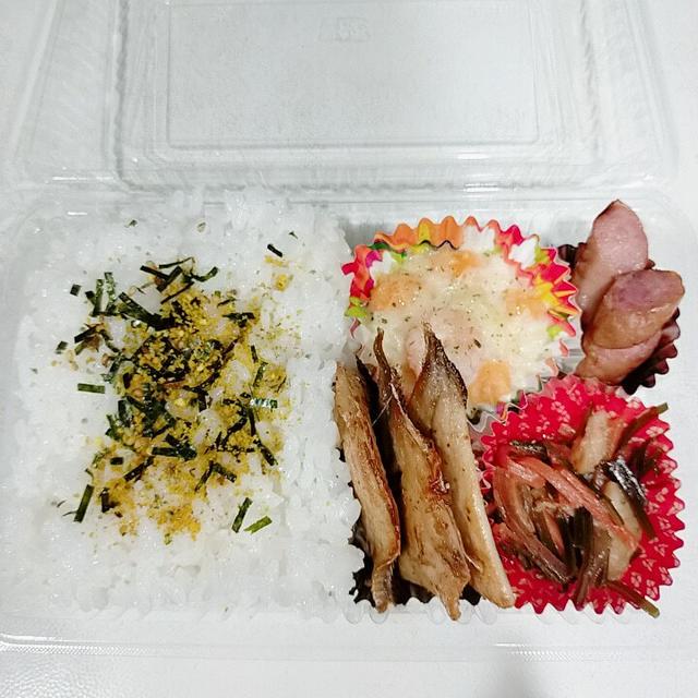 7月4日(日)のお弁当 アジの博多干し