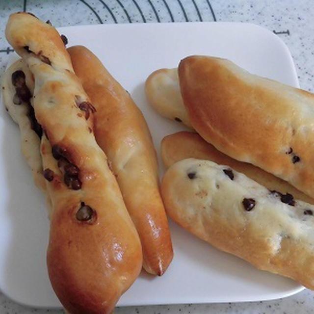 大納言スティックとチョコチップスティックパン♪