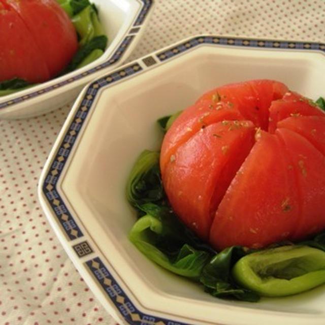 ごろっと丸ごとトマトサラダ・しまじろうのお弁当(幼稚園)(キャラ弁)