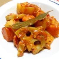 ごろごろ根菜のカチャトーラ風