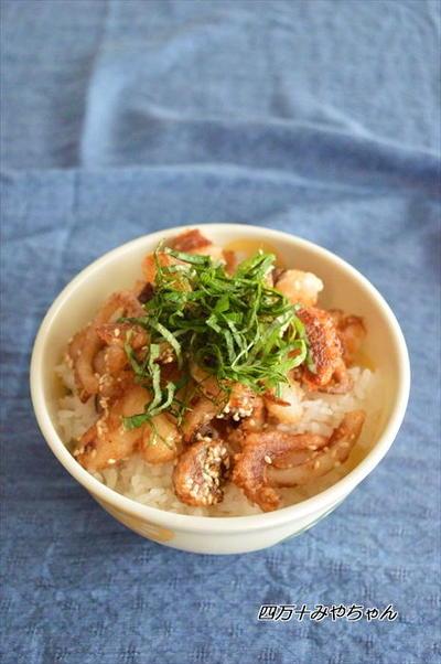 簡単!激ウマ丼!北海道旭川市の名物「イカゲソ丼」風を作ってみた♪