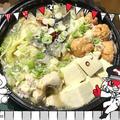 おうちでご飯☆鶏塩鍋。
