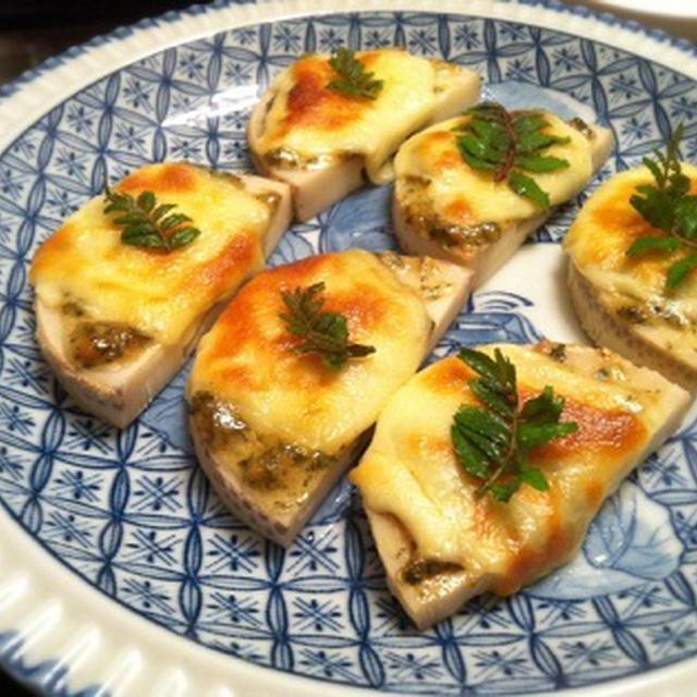 筍の木の芽味噌マヨチーズ焼き