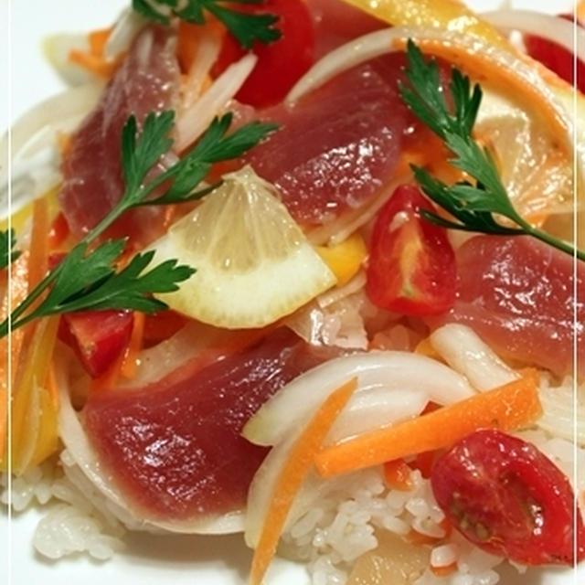 夏メニュー3品*まぐろのマリネ寿司・梅照りチキン・冬瓜の煮物