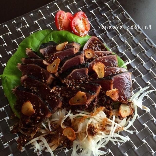 【レシピおすすめ!】かつおのたたきアレンジとごぼうの味付き天ぷら