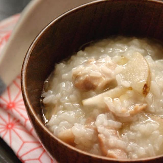 長芋と鶏肉のおかゆ。