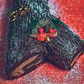 絵になるクリスマスケーキ!ユールログのレシピ【ブッシュドノエル】
