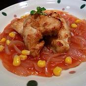 スパイシー&ヘルシー☆鶏から揚げのカレートマトあん