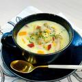 ひと鍋de【簡単】具沢山‼︎ほっこり美味しい♡さつまいも&きのこのチャウダー