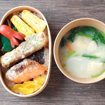 ◆ミニ鮭弁当