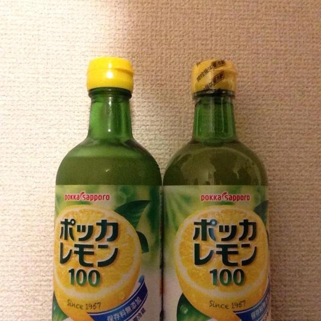 ポッカレモン100で(*^^*)ハチミツレモンで風邪予防