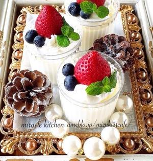 ♡混ぜて冷やして超簡単♡魅惑の練乳ショコラプリン♡