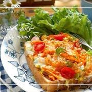 朝べジ♪雑穀パンで野菜ピザ&懐かしのメロンカップアイス