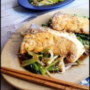 【魚も野菜もレンジDEがっつり!】ブリと野菜の甘辛コチュ蒸し