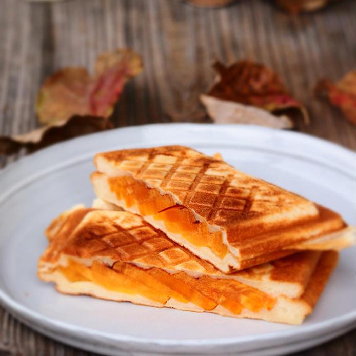 柿とクリームチーズのホットサンド
