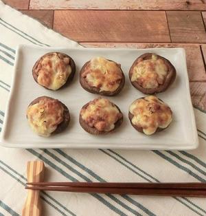簡単5分★椎茸の納豆味噌チーズ焼き【ぐんまクッキングアンバサダー】