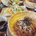 かき揚げ/もずくの天ぷら/かしわ天/ざる蕎麦