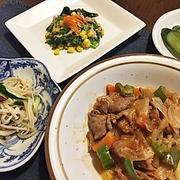 小松菜とコーンのサラダ&発表会なのに風邪( ̄▽ ̄;)