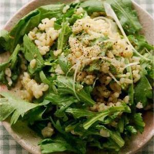 野菜の苦手を克服!実は生が食べやすい「春菊」のサラダ