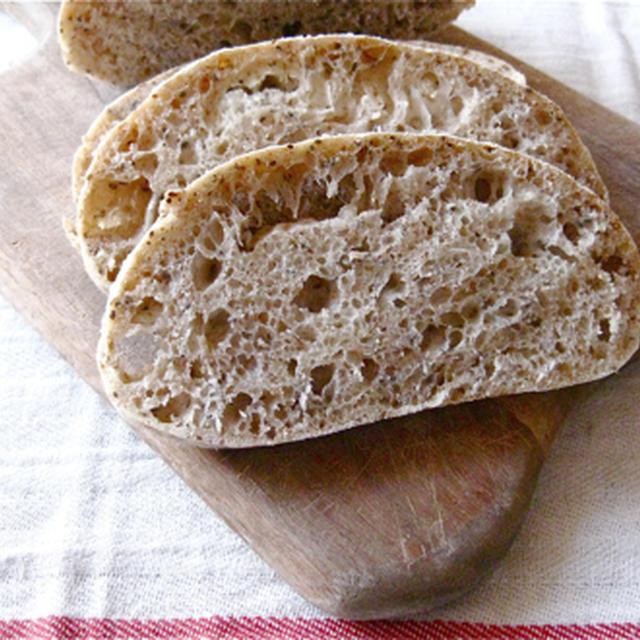 混ぜるだけ、こねない簡単なチアシードのパン。
