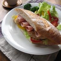 ジンジャーレモンチキンとハムのサンドイッチ & ありがとう♪