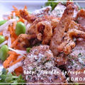 鶏皮せんべいスティックとチキングリル☆葉酸プラスで枝豆なます添え by MOMONAOさん