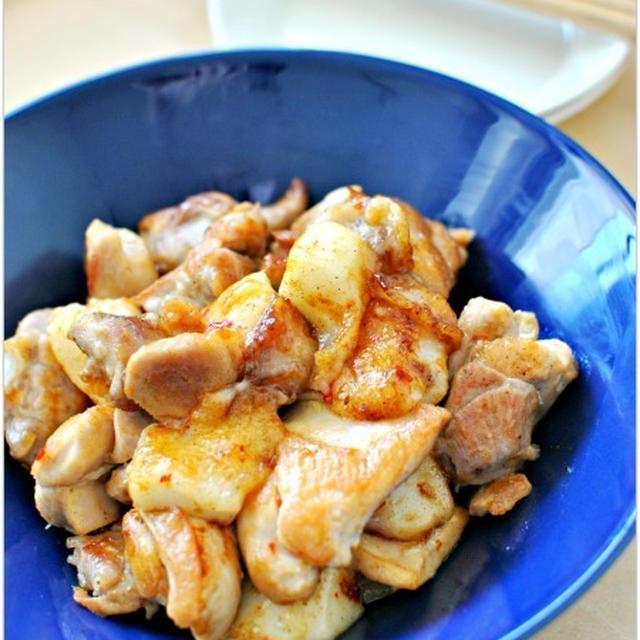 鶏肉とお餅のスイートチリソース炒め