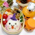 (キャラ弁)ハロウィン★まん丸おにぎりでおばけちゃん弁当 by とまとママさん