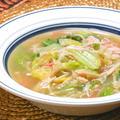 とろみとスパイスで温まる〜白菜とカニかまのとろみスープ煮。