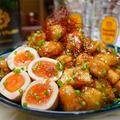 【レシピ】鶏ささみと里芋の甘酢炒め